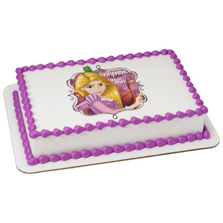 Disney Princess Rapunzel 75 Round Sheet Image Cake Topper Edible Birthday Party
