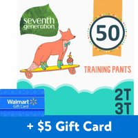 [$5 Savings] Seventh Generation Free & Clear Potty Training Pants, Size 2T-3T, 50 Total Count