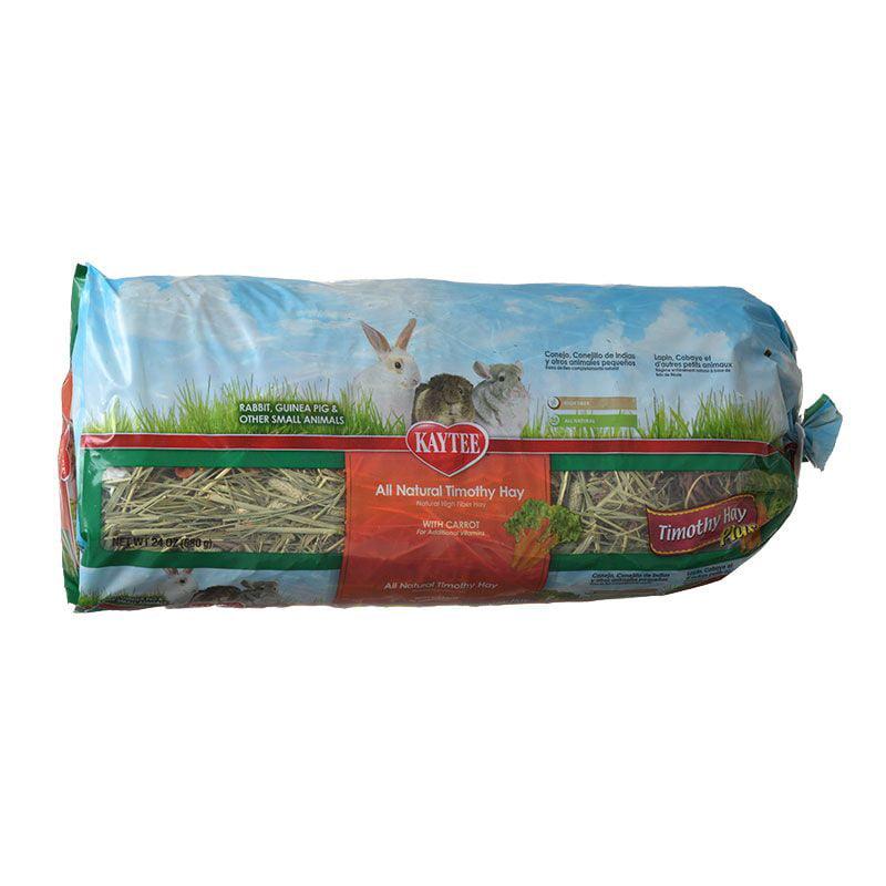 Kaytee Timothy Hay Plus Carrots 24 oz - Pack of 4
