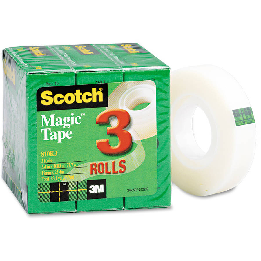 "Scotch Magic Tape Refill, 3/4"" x 1000"", 3/Pack"