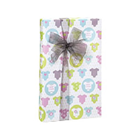 Teensy Onesies Baby Shower Birthday / Special Occasion Gift Wrap Wrapping Paper-16ft - Baby Shower Wrapping Paper