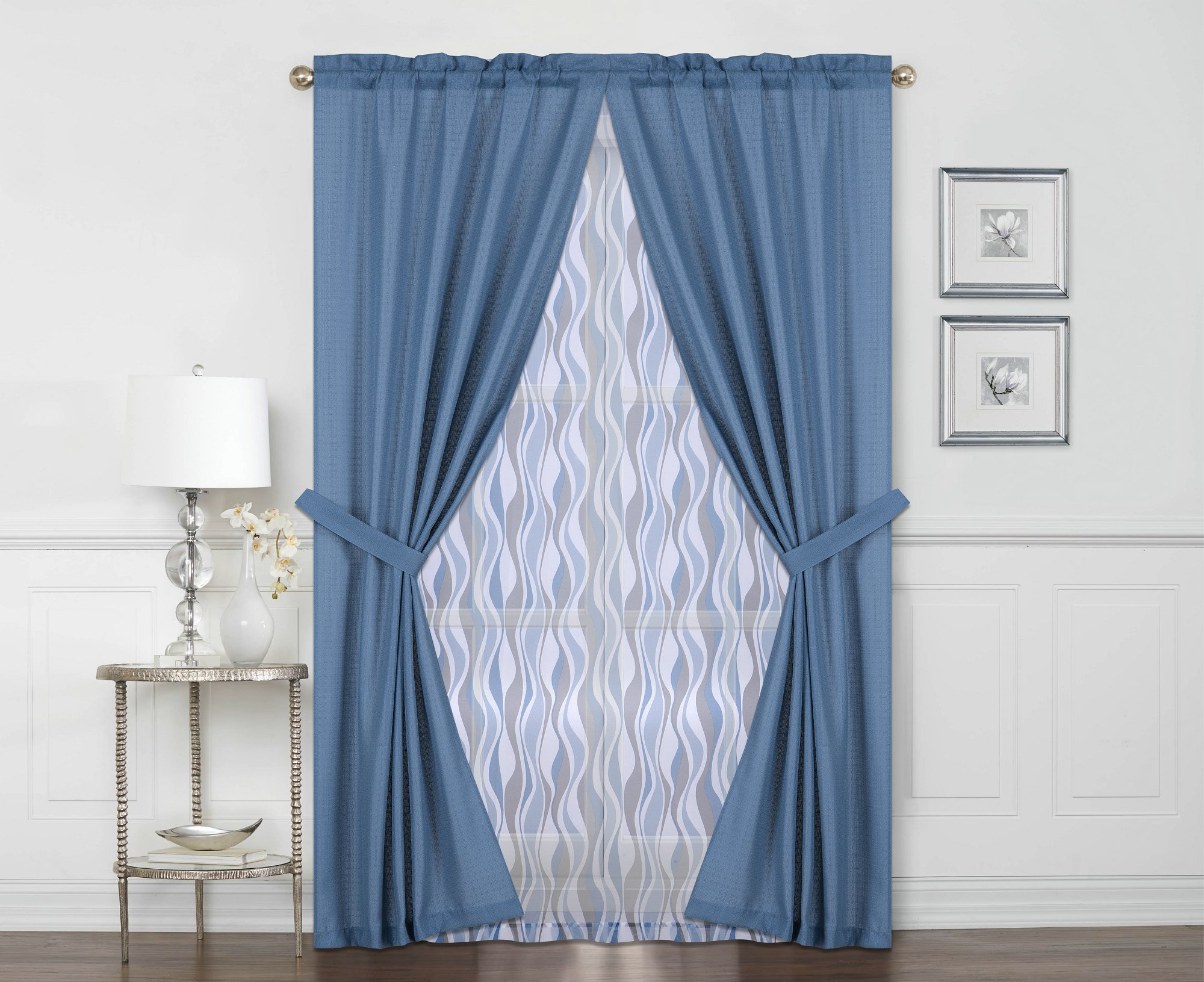 Mainstays 6 Piece Curtain Set by Idea Nuova