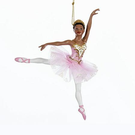 Kurt Adler 6.25-Inch Resin Black Ballerina Christmas Ornament
