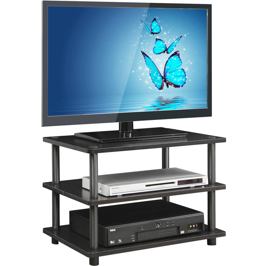 Furinno Turn-N-Tube Easy Assembly 3-Tier Corner TV Stand, Multiple Finishes