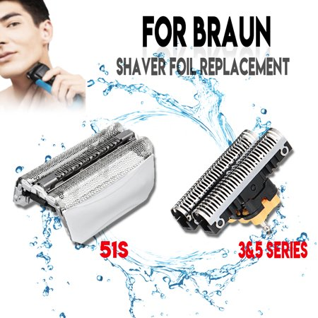51S Shaver foil With/Without Cutter Blade for BRAUN 8000 Series ContourPro 360? Complete Series 5 (Braun Series 3 31b Foil And Cutter)