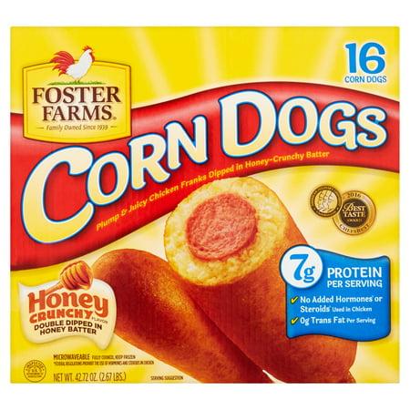 Foster Farms Honey Crunchy Flavor Corn Dogs 16 Count 4272 Oz