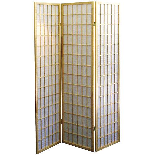 3-Panel Room Divider, Black