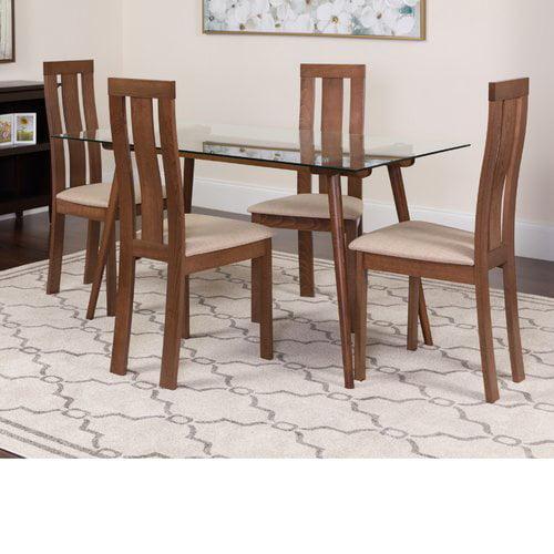 Winston Porter Hunsberger 5 Piece Solid Wood Dining Set