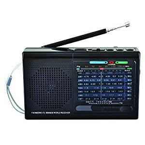 Digital Multi Band World Radio - Supersonic 9 Band Bluetooth Radio (Black)