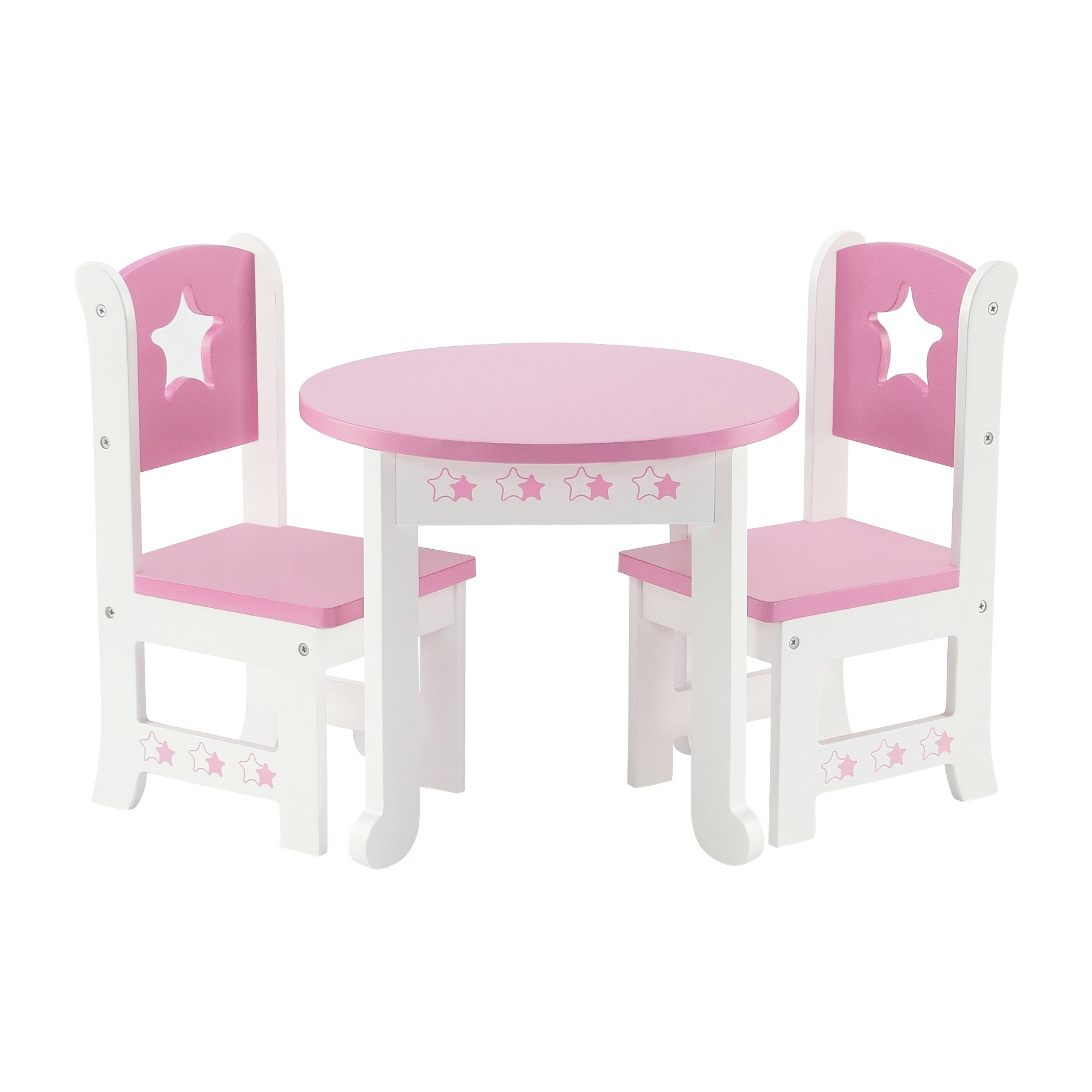 18 Inch Doll Furniture | Lovely Pink and White Table and 2 Chair Dining Set with  sc 1 st  Walmart & 18 Inch Doll Furniture | Lovely Pink and White Table and 2 Chair ...