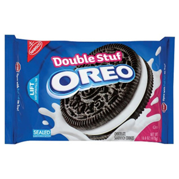 Oreo Double Stuff Chocolate Sandwich Cookies 15.4 oz Tray - Pack of 4