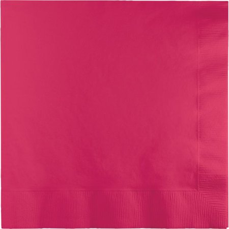 Touch of Color Dinner Napkins, 3-Ply, 1/4 Fold, Hot Magenta, 25 Ct - Napkin Fold