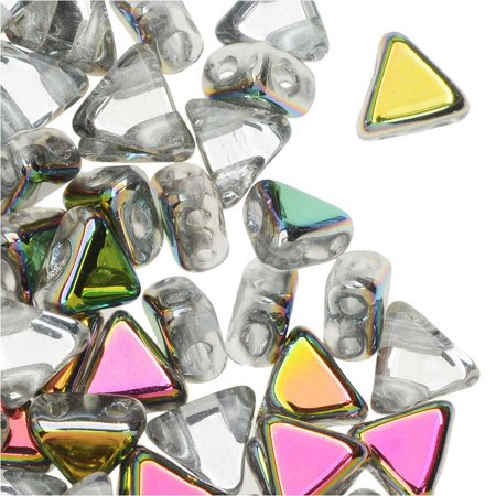 Crystal Marea 9 Gram Kheops Par Puca 6mm 2 Hole Triangle Czech Glass, Loose Beads,