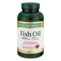 Nature's Bounty 1200 mg, 200 ct Fish Oil Odorless Coated Softgels