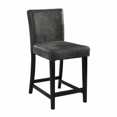 Linon Morocco Counter Stool, Charcoal, 24 inch Seat Height