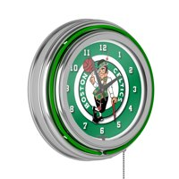 Boston Celtics NBA Chrome Double Ring Neon Clock