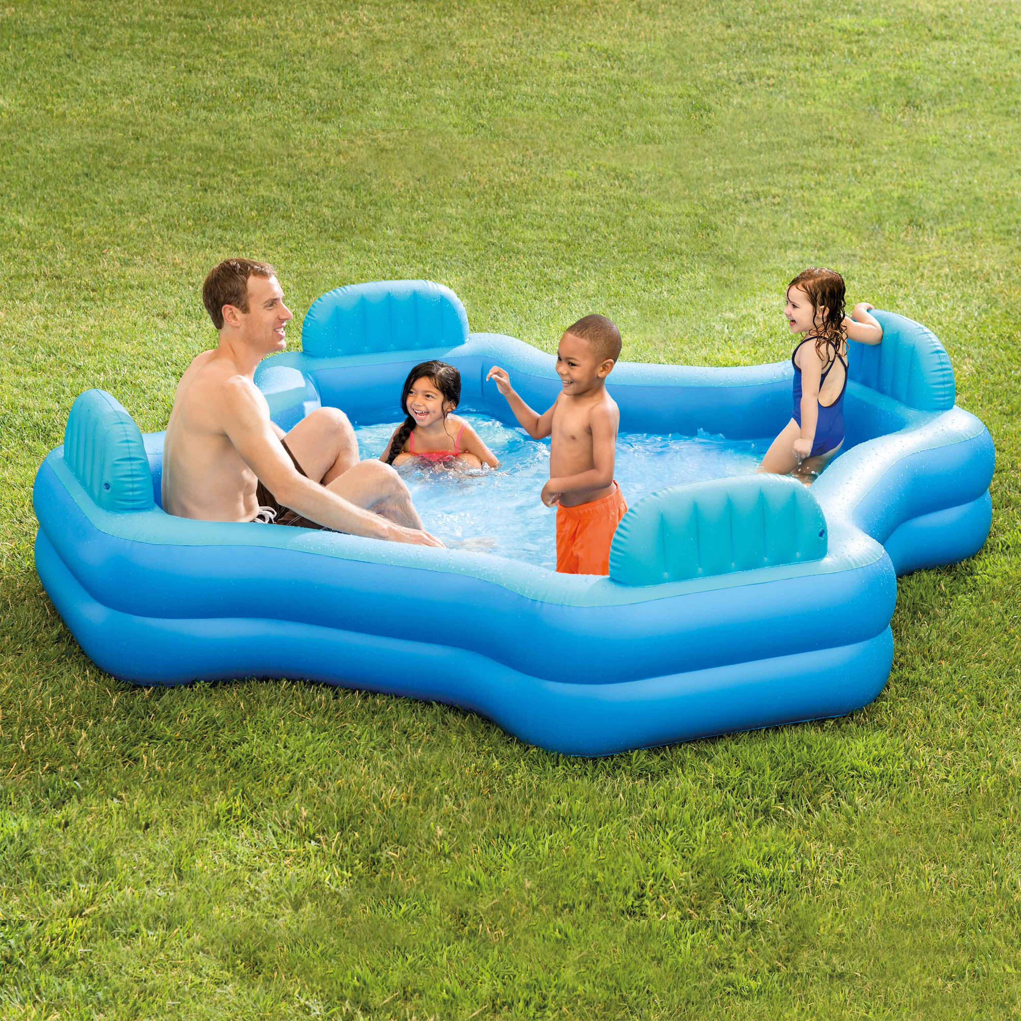 Intex Inflatable Swim Center Family Lounge Pool 105 X 105 X 26