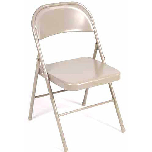 Mainstays Steel Chair, Set of 4 (Antique Linen)