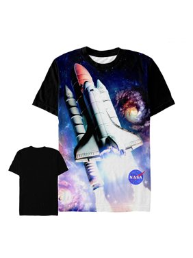 60965c42 Product Image NASA Men's Galactic Space Shuttle Journey All-Over Print T- Shirt