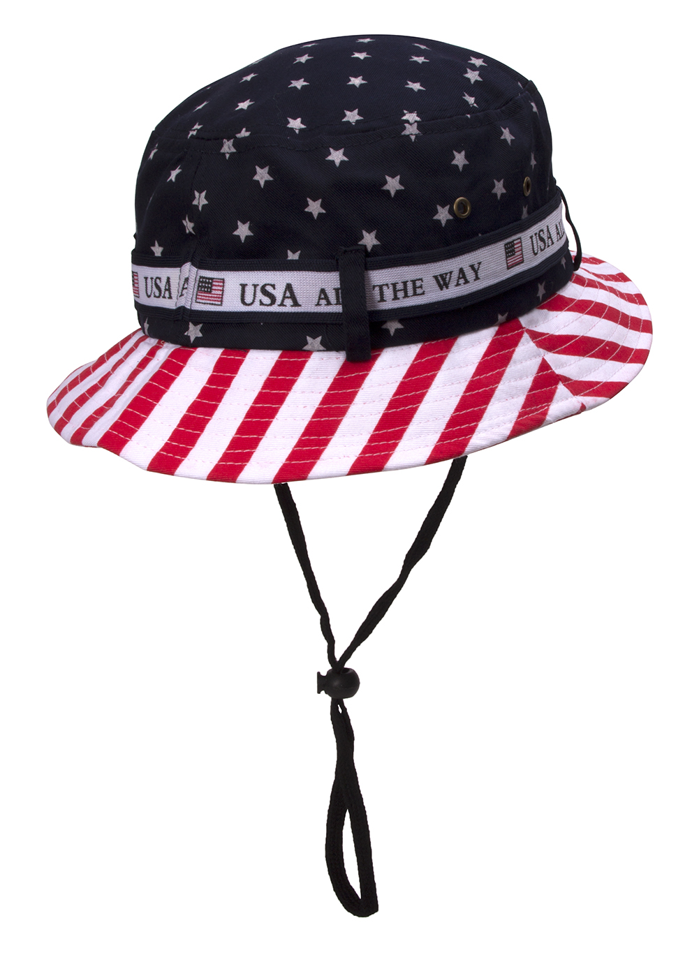 Cotton Twill USA Flag Bucket Hat USA All The Way Boonie - Walmart.com b91b498739f