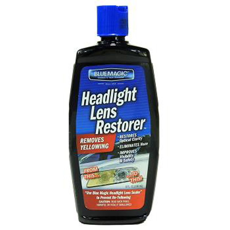 Blue Magic Headlight Lens Restorer 8 Oz - 1 count only