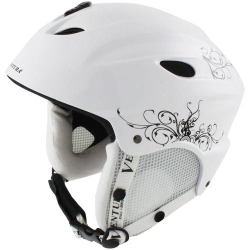 Ventura Skiing Snowboarding White Helmet, Youth by Ventura