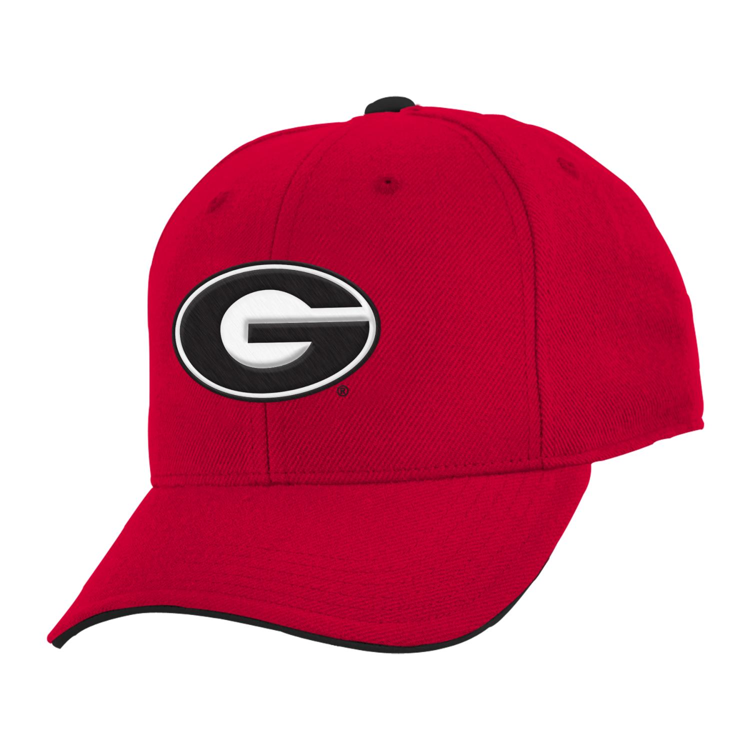 "Georgia Bulldogs Youth NCAA ""Basic"" Structured Adjustable Hat"