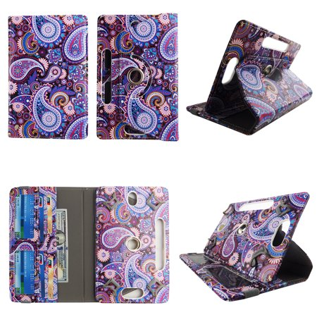 Purple Paisley tablet case 7 inch for RCA Mercury 7