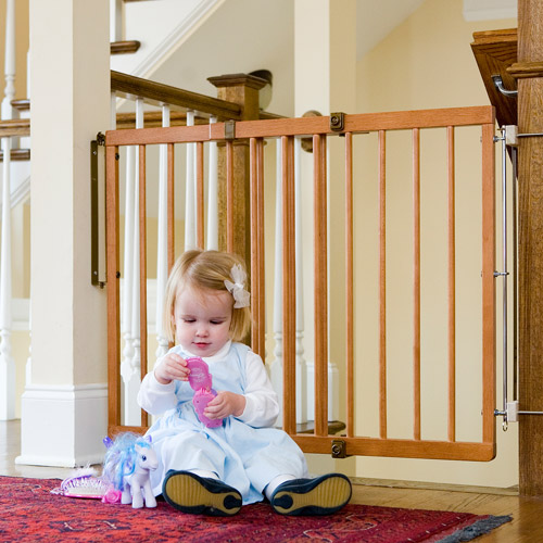 Cardinal Gates Wood Child Safety Gate, Colonial Maple by Cardinal Gates