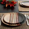 Better Homes & Gardens Bazaar Dinnerware, Gray, Set Of 16