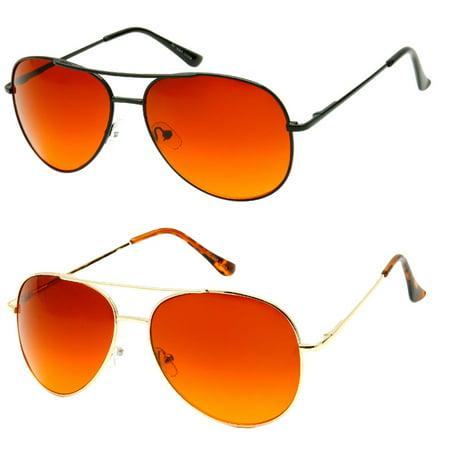 MLC Eyewear Classic Metal Frame Aviator UV400 Ultra Blue (Best Blue Blocker Sunglasses)
