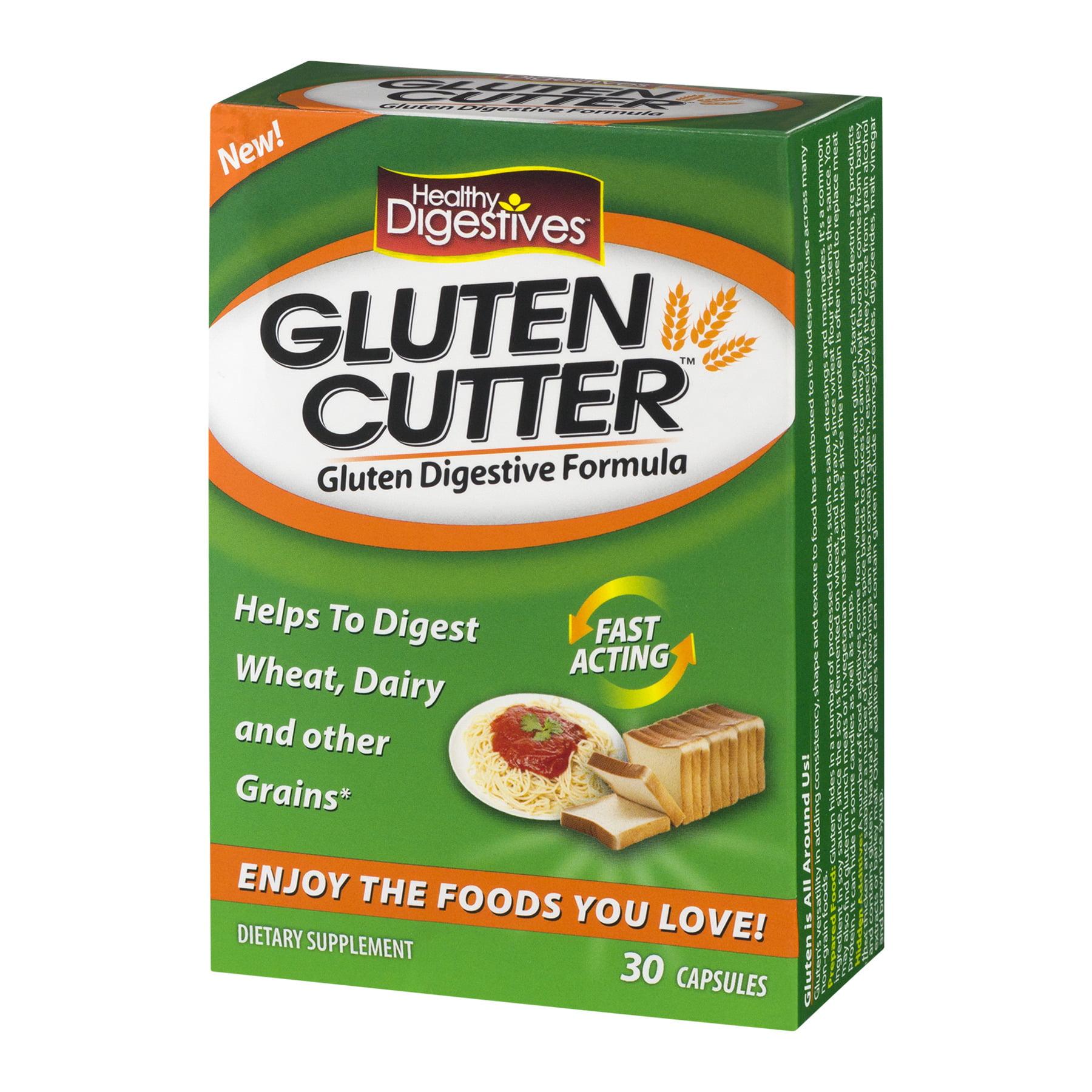 healthy digestives glutten cutter dietary supplement capsules 30
