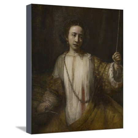Lucretia, 1666 Stretched Canvas Print Wall Art By Rembrandt van ...