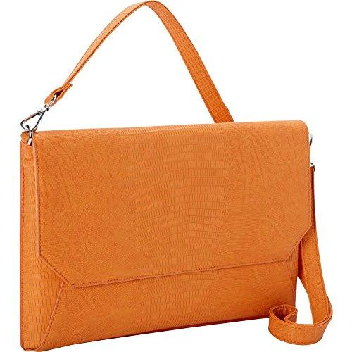"Francine Collection Lenox Carrying Case [sleeve] For 11"" Macbook Air, Tablet, Ipad, Ipad Air, Notebook - Orange - Faux Leather (ffs11orlizardenvss)"