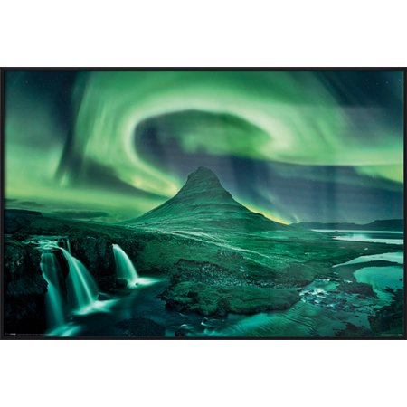 Aurora Borealis - The Northern Lights - Framed Nature Poster / Print (Size: 36