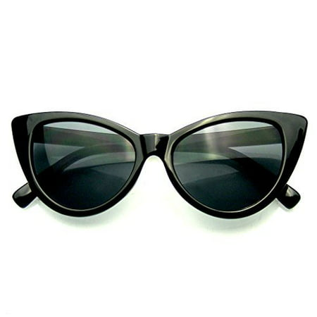 Womens Fashion Hot Tip Vintage Pointed Cat Eye (Ferrari Red Sunglasses)