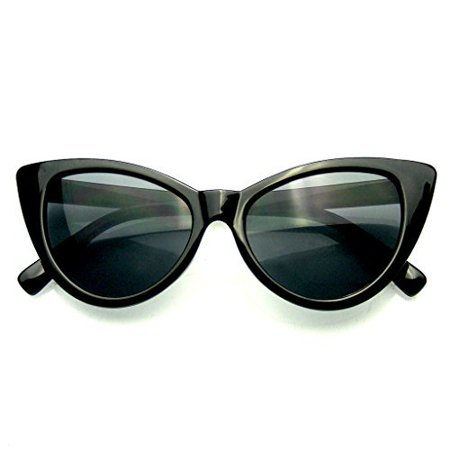 Womens Fashion Hot Tip Vintage Pointed Cat Eye Sunglasses ()