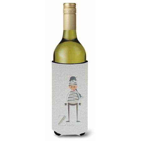 Zebra Wine Bottle - Alphabet Z for Zebra Wine Bottle Beverge Insulator Hugger BB5751LITERK