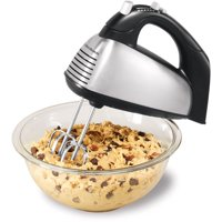 Hamilton Beach 6-Speed Classic Stand Mixer, Stainless Steel & Black - Model# 62650