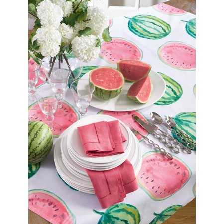 Fennco Styles Colorful Watermelon Printed Summer Decor Tablecloth Table Topper 55
