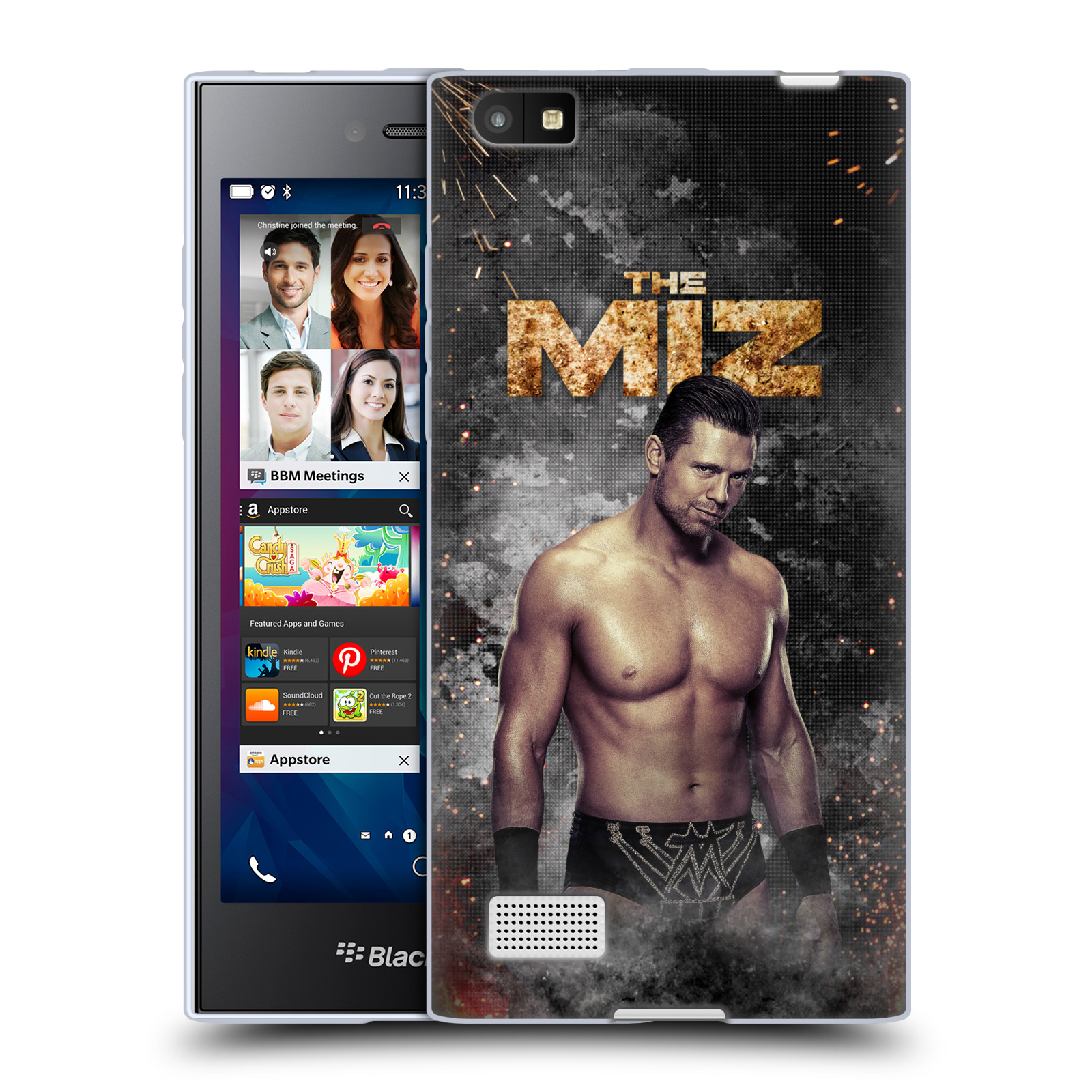 OFFICIAL WWE THE MIZ SOFT GEL CASE FOR BLACKBERRY PHONES