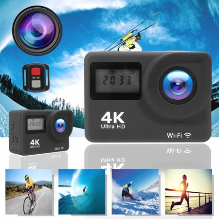 Dual Screen 4K Ultra HD WiFi Sports DV Action Camera Camcorder 16MP 170° Wide-angle + Remote Control