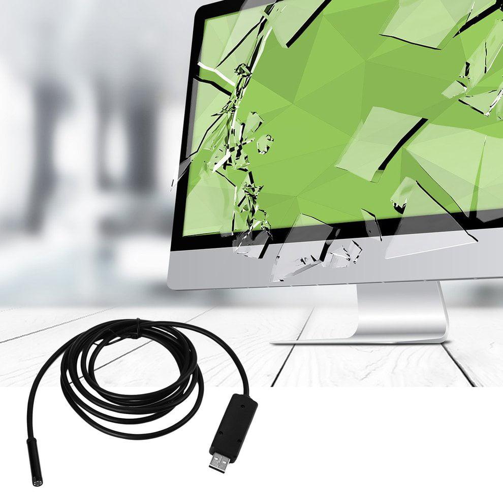 2M 6 LED USB Waterproof IP67 Endoscope Borescope Tube Inspection Video Camera 7mm Lens Mirco USB Endoscope Lens Mirror