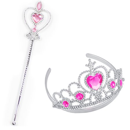 Pink Halloween Party (2pcs Party Accessories Girl Queen Princess Halloween Cosplay Holiday Party)