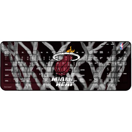 Miami Heat Net Design Wireless USB Keyboard by Keyscaper by