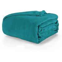 Mainstays Plush King Bed Blanket in Teal