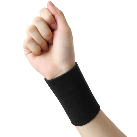 1 Pair Size L Black Wrist Support Compression Sleeve Wrap Band Typing Sports Wrists Protector (Best Wrist Brace For Typing)