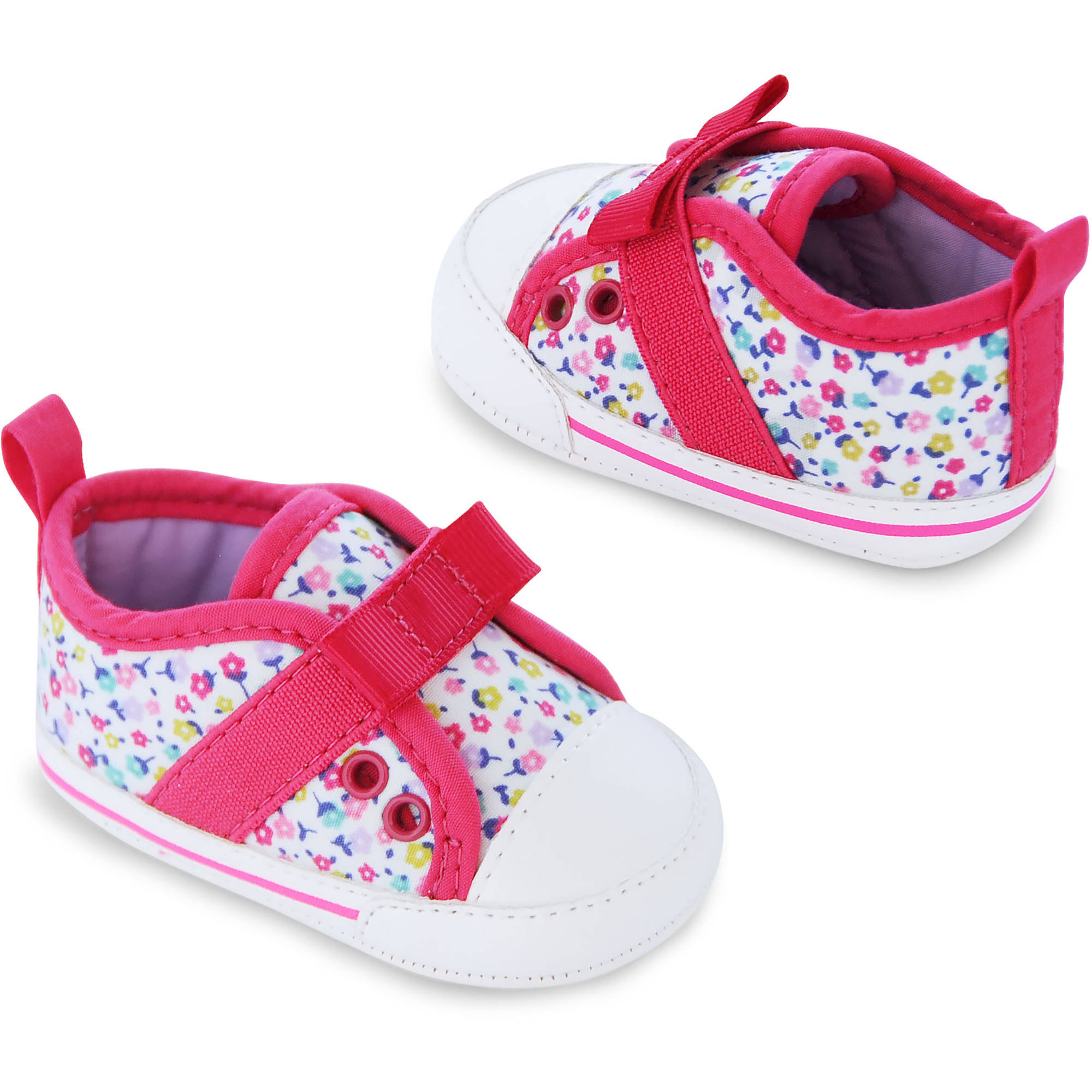 Child of Mine by Carter's Newborn Baby Girl Printed Sneakers, 0-3M