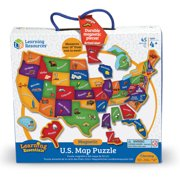 Learning Resources Magnetic US Map Puzzle Walmartcom - Us map pizzle