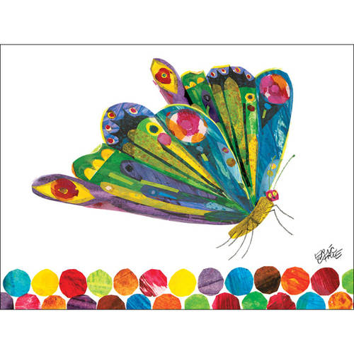 Oopsy Daisy's Eric Carle's Fluttering Butterfly Canvas Wall Art, Size 24x18